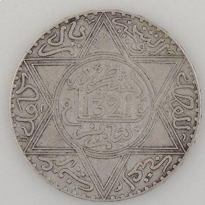Maroc, 10 Dirhams 1321, TTB, KM Y#22.2