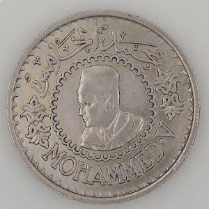 Maroc, 500 Francs 1956, TTB, KM Y#54