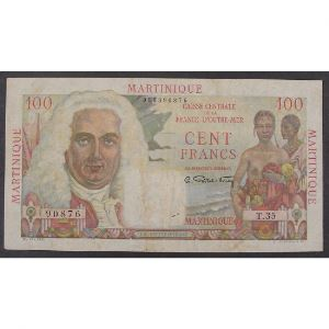 Martinique, 100 Francs ND 1947-1949, VF