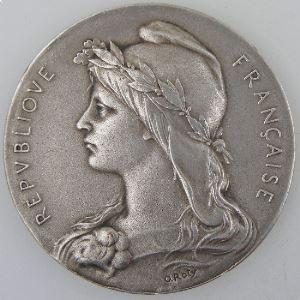 Médaille Association Sténographique Unitaire, 7 Juin 1936, O.Roty, SUP