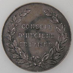 Médaille du Conseil d'Hygiène de l'Aisne