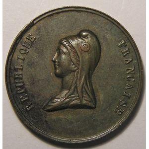 Médaille, Fête du champ de Mars 1848, TTB