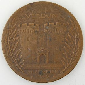 Médaille Verdun, On ne passe pas, Bronze 37mm, 22.83 Grs, TTB+