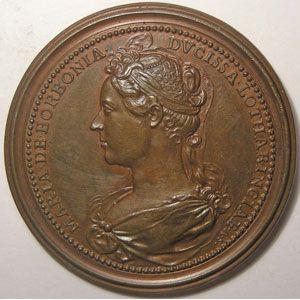 Médailles des Ducs de Lorraine, Jean II et Marie de Bourbon, 47mm, Lepage 39, TTB+/SUP,