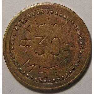 Monnaie de nécessité, Metz, FLUM 30 Fabrique Lorraine d'Ustensiles Ménagers, TTB, marchand: 170.1