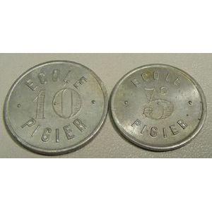 Monnaie de nécessité, Paris, Ecole Pigier, 5 et 10, Elie: 20.1