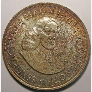Monnaie étrangère, Afrique du Sud, South Africa, 50 Cents 1964, SUP petits chocs de tranche, KM# 62
