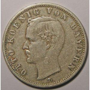Monnaie étrangère, Allemagne, Germany, Empire Allemand, Bayern, 2 Mark 1900 D, TB+, AKS# 204