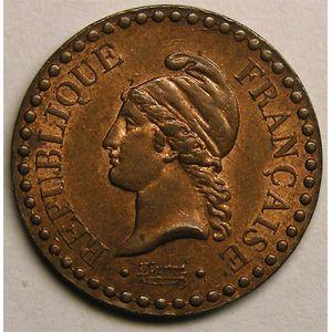 Monnaie française, Dupré, 1 centime 1848 A   Paris