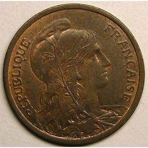Monnaie française, Dupuis, 2 centimes 1904