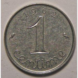 Monnaie française, Epi, 1 Centime 1962 REBORD, TTB+/SUP