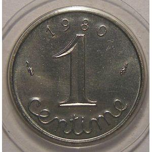 Monnaie française, Epi, 1 Centime 1980 FDC, Gad: 91