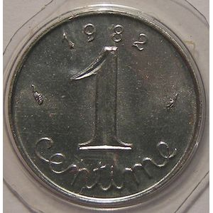 Monnaie française, Epi, 1 Centime 1982 FDC, Gadoury: 91