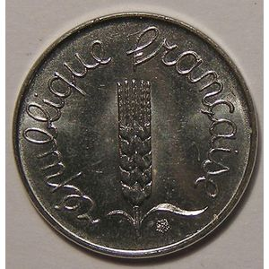 Monnaie française, Epi, 1 Centime 1984 SUP+, KM# 928