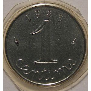 Monnaie française, Epi, 1 Centime 1985 FDC, KM# 928