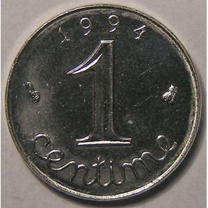 Monnaie française, Epi, 1 Centime 1994 Abeille