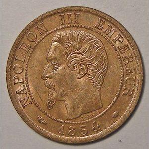 Monnaie française, Napoléon III, 1 centime 1854 MA Marseille, SUP à FDC, Gadoury 86
