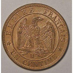 Monnaie française, Napoléon III, 1 centime 1855 MA Marseille Chien, SUP à FDC, Gadoury 86