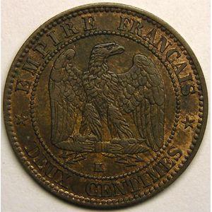 Monnaie française, Napoléon III, 2 centimes 1856 K   Bordeaux