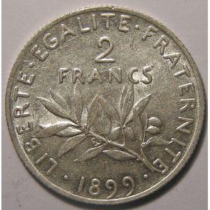 Monnaie française , Semeuse, 2 francs 1899, SUP, Gadoury: 532