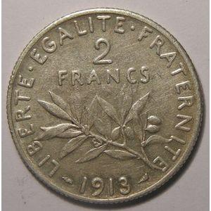 Monnaie française, Semeuse, 2 francs 1913, TTB, Gadoury: 532