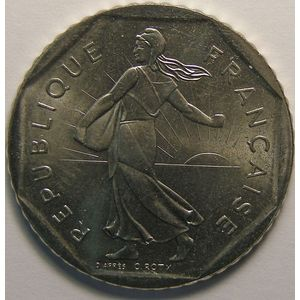 Monnaie française, Semeuse, 2 Francs 1986, SPL, KM#942.1