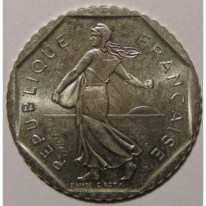 Monnaie française, Semeuse, 2 Francs 1991 Frappe monnaie, Gadoury: 547, SUP+/SPL