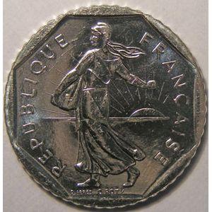 Monnaie française, Semeuse, 2 Francs 1994 Abeille