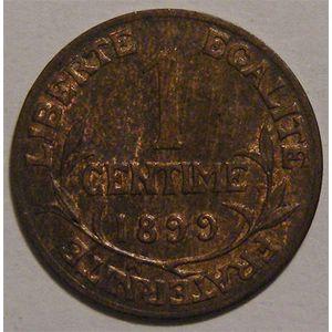 Monnaie Française, Troisième République, Dupuis, 1 centime, 1899