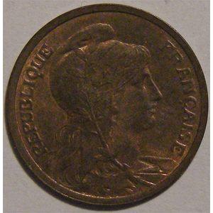 Monnaie Française, Troisième République, Dupuis, 1 centime, 1908