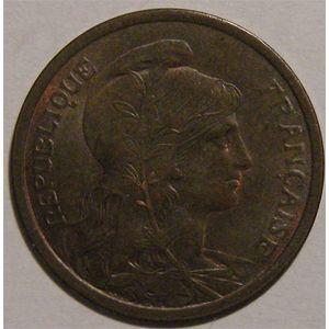 Monnaie Française, Troisième République, Dupuis, 2 centimes, 1913