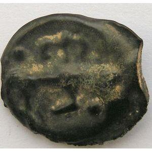 Monnaie Gauloise, Haute et Moyenne Seine, Potin au taureau et au lys, 3.42 Grs, LT: 9155, TTB+