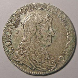 Monnaie Lorraine, duché de Lorraine, Charles IV (1661-1670), Teston 1666, Flon P 715