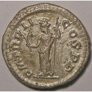 Monnaie romaine, empereur, Alexandre Sévère, Alexander Severus, Denier,  R/ P M TR P II COS P P, TTB