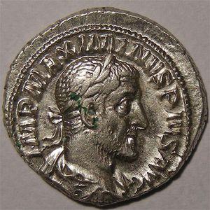 Monnaie romaine, empereur, Maximinus I, denier, R/ SALVS AVGVSTI
