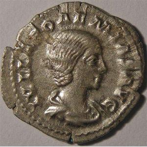 Monnaie romaine, empire romain, Julie Soaémias, denier, R/ VENVS CAELESTIS