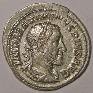 Monnaie romaine, empire romain, Maximin I, Maximinus I, Denier, R/ PAX AVGVSTI, 3.28 Grs, TTB+/SUP
