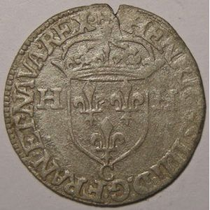 Monnaie royale, Henri IV, Douzain 1593 C Saint Lô, TB+, Duplessy: 1247