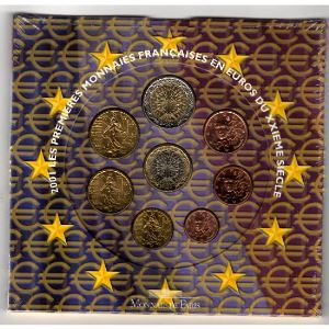 Monnaies Euros, France, Coffret BU 2001, Neuf