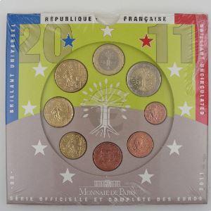 Monnaies Euros, France, Coffret BU 2011, neuf ouvert