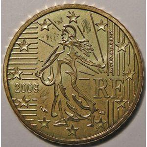 Monnaies Euros, France, 50 Cent 2009, SPL