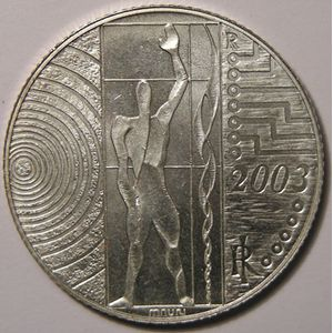 Monnaies Euros, Italie, 5 Euro 2003, SPL