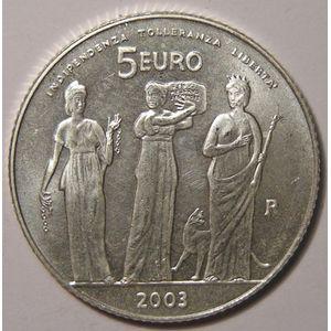 Monnaies Euros, San Marino, 5 Euro 2003, SPL