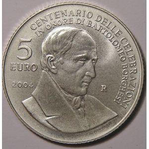 Monnaies Euros, San Marino, 5 Euro 2004, SPL