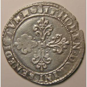 Monnayage de la Ligue, Demi-Franc 1590 M, TTB, Duplessy: 1160