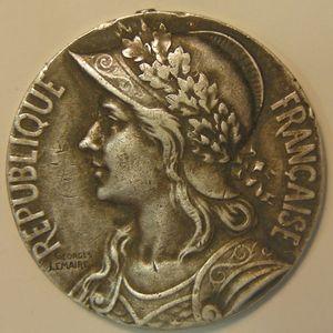 Morocco , Médaille signé: Georges Lemaire, Diam 30mm,  TTB