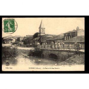 NONSART (Meuse) - Le Pont et la Rue Centrale