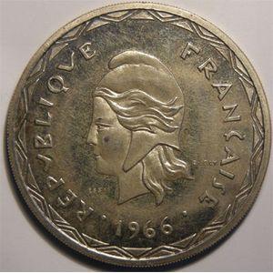 Nouvelles-Hébrides, Essai, 100 Francs 1966 Argent
