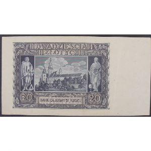 Pologne, 20 Zlotych 1.3.1940, VF+