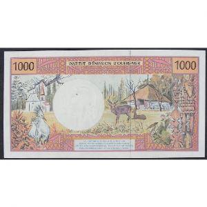 Polynésie Française, 1000 Francs ND, VF+